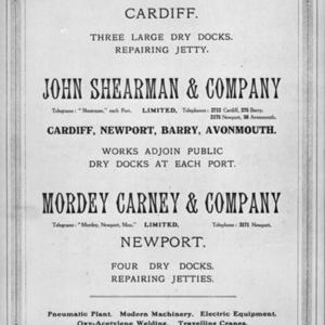 Advert for Mount Stuart Dry Docks